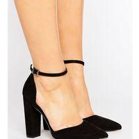 penalty wide fit pointed high heels - black, Asos