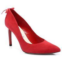 BRAVO MODA 1496 CZERWONE - Szpilki z modnymi kokardkami - Czerwony, kolor czerwony