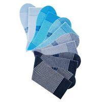 Bonprix Skarpetki w paski h.i.s (6 par) ciemnoniebieski + głęboki niebieski + niebieski dżins + turkusowy + matowy niebieski + jasnoniebieski