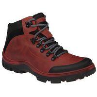 Trzewiki trekkingowe ocieplane KORNECKI 5273 Czerwone - Czerwony ||Czarny, kolor czerwony