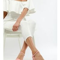 London rebel mid block heel sandals - pink