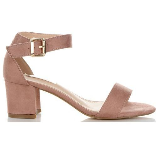 Wygodne Sandały Damskie na szerokim obcasie marki Bellucci Różowe (kolory)