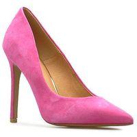 Czółenka Badura 2573-69 Fuksja zamsz, kolor różowy