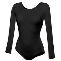 Rennwear Body treningowe z długim rękawem b100d czarne - czarny