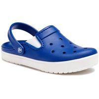 Crocs Klapki - city lane clog cerulean blue/white