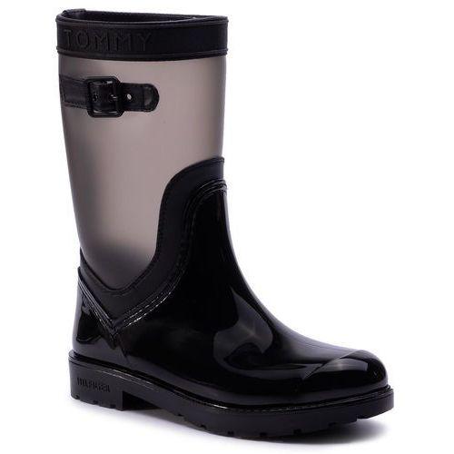 Kalosze TOMMY HILFIGER - Translucent Detail Rain Boot FW0FW04126 Black 990, kolor czarny