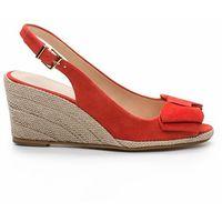 Skórzane sandały na koturnie, hidi mir marki Cosmoparis