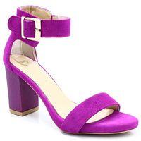 TYMOTEO 2661/2 FUKSJA - Wygodne sandały - Różowy ||Fioletowy, kolor różowy