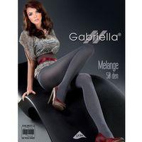 Rajstopy Gabriella Melange 130 50 den 4-L, szary/melange grafit, Gabriella