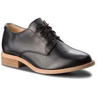 Oxfordy CLARKS - Edenvale Ash 261363034 Black Leather