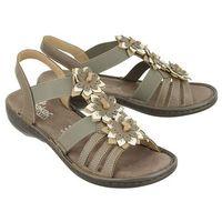 RIEKER 60858-64 beige, sandały damskie
