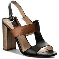 Sandały SOLO FEMME - 62451-35-H74/G51-07-00 Czarny/Camel, w 4 rozmiarach