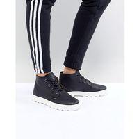 pampa free black leather flat ankle boots - black marki Palladium