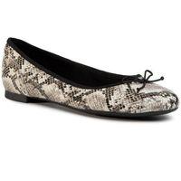 Baleriny - couture bloom 261505774 grey snake marki Clarks