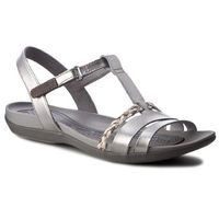 Sandały CLARKS - Tealite Grace 261239434 Silver Leather, 35.5-41