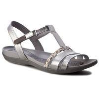 Sandały - tealite grace 261239434 silver leather, Clarks, 36-37
