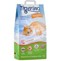 Tigerino Nuggies Fresh - zbrylający żwirek dla kota, drobnoziarnisty - 14 l