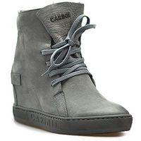 Sneakersy b3519/ns-j51 szare nubuk, Carinii