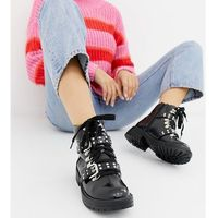 wide fit chunky ankle boots - black marki Truffle collection