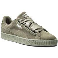Sneakersy PUMA - Suede Heart Pebble Wn's 365210 02 Rock Ridge/Rock Ridge, kolor zielony
