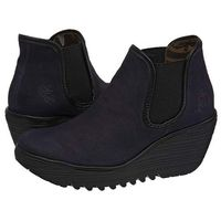 Botki FLY London Yat Navy/Black P500506003 (FL143-a), kolor niebieski
