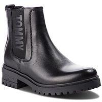 Sztyblety TOMMY JEANS - Essential Cleated Ch EN0EN00242 Black 990