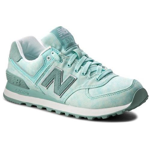 Sneakersy NEW BALANCE - WL574SWB Zielony, kolor zielony