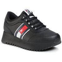Sneakersy TOMMY JEANS - High Cleated Tommy Jeans Sneaker EN0EN00948 Black BDS, w 6 rozmiarach