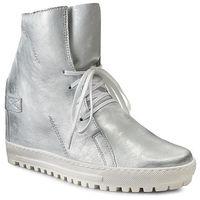 Eksbut Sneakersy - 75-3975-369-1g srebro licowa