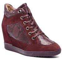 Sneakersy - d carum c d84asc 02241 c7j7b dk burgundy/bordeaux, Geox, 38-41