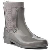 Kalosze TOMMY HILFIGER - Shiny Rain Boot FW0FW03403 Silver 000, w 7 rozmiarach