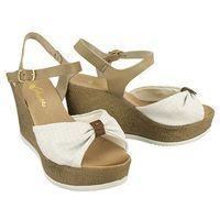 910709-3 white, sandały damskie - biały, Piazza