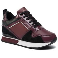 Tommy hilfiger Sneakersy - leather wedge sneaker fw0fw04420 chocolate truffle gby