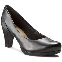 Półbuty CLARKS - Chorus Chic 261195294 Black Leather, kolor czarny