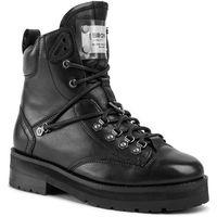 Botki BRONX - 47198-BX 1607 Black 01, kolor czarny