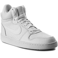 Buty NIKE - Wmns NIke Court Borough Mid 844906 110 White/White/White, kolor biały