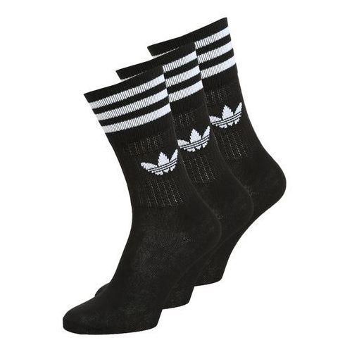 adidas Originals SOLID CREW 3 PACK Skarpety black/white (4055012803091)
