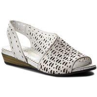 Sandały LANQIER - 42C0623 Silver, kolor szary