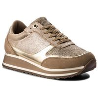 Sneakersy - metallic retro runner fw0fw03634 dark taupe 099 marki Tommy hilfiger