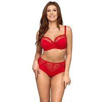 Ava lingerie Biustonosz półusztywniany ava 1030 red maxi rozmiar: 75l, kolor: czerwony/red, ava