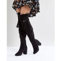 tassel over the knee boot - black marki New look