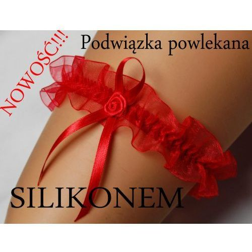Damska podwiązka czerwona ENJOY Eva silikon, eva silicon red