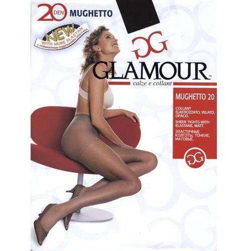 "Rajstopy Glamour Mughetto 20 den ""24h"" 1/2-xs/s, beżowy/cocco. Glamour, 3-m, 4-l, 1/2-xs/s, 1/2-S, kolor brązowy"