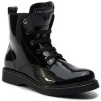 Botki - lace-up bootie t4a5-30445-0765999 black d marki Tommy hilfiger