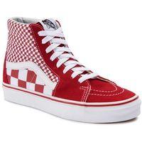 Sneakersy VANS - Sk8-Hi VN0A38GEVK51 (Mix Checker) CHili Pepper/True White, w 22 rozmiarach