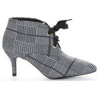 Modne botki damskie na obcasie firmy czarno-szare (kolory) marki Sergio todzi
