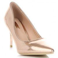 Klasyczne lakierowane buty damskie eleganckie szpilki włoskiej marki bellucci szampan (kolory) marki Belluci