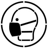 Szablon do malowania znak nakaz stosowania maski przeciwpyłowej go016- 15x15 cm marki Szabloneria