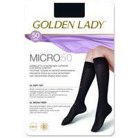 Podkolanówki Golden Lady Micro 50 den uniwersalny, brązowy/marrone scuro, Golden Lady, kolor brązowy