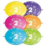 Girlanda balonowa z nadrukiem cyfra 2 - 300 cm - 1 kpl - 10 szt. balonów
